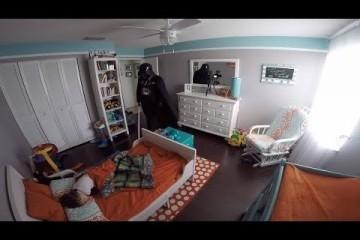 Si traveste da Darth Vader per fare uno scherzo al figlio: la Reazione del Bimbo è Esilarante