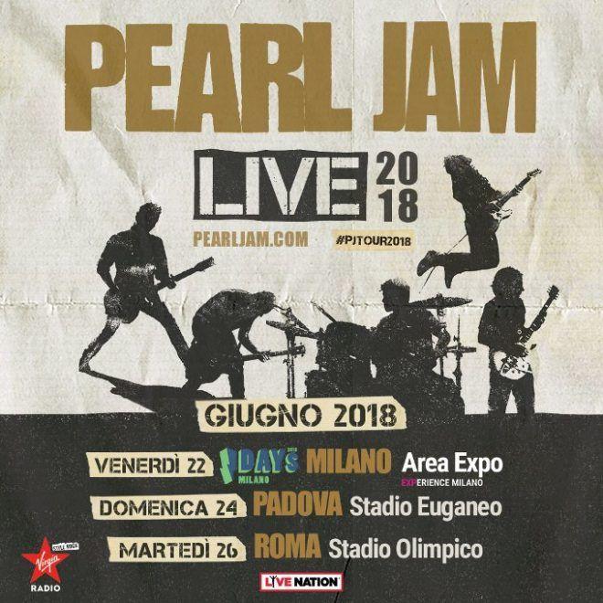 Pearl Jam, scaletta concerto